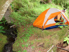 Photo: Campsite near Flewin Point north of Port Simpson