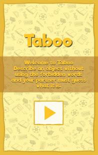 Taboo: forbidden words - náhled