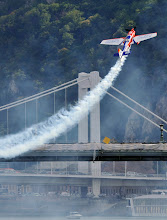Photo: German pilot Matthias Dolderer flies in training sessions during the fourth round of the 2009 Red Bull Air Race World Championship in Budapest, Hungary, August 17, 2009. For further information go to www.redbullairrace.com . (Bela Szandelszky/Red Bull Air Race via AP Images). FOR EDITORIAL USE ONLY