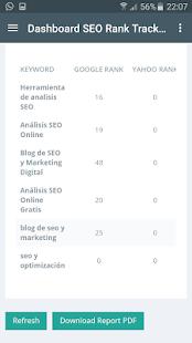 SEO Keyword Rank Tracker - náhled