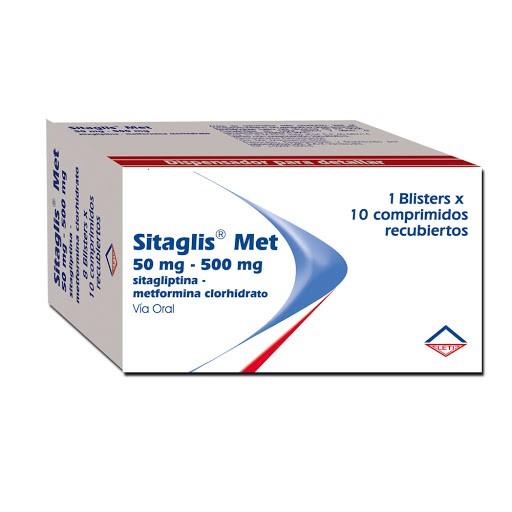 Sitagliptina + Metformina Sitaglis Met 50/500mg Blister