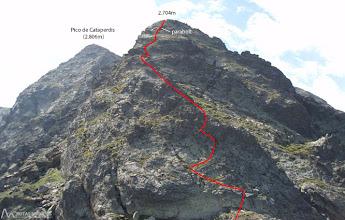 Photo: Trazamos el recorrido a seguir para acometer el segundo pico.