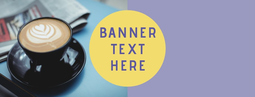 facebook banner template with coffee