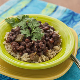 Slow Cooker Cuban-Style Black Beans with Rice.