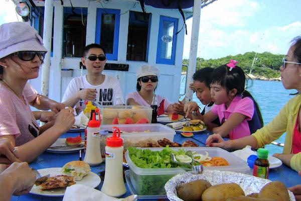 Enjoy a buffet lunch on board the vessel
