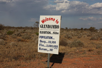 Photo: Year 2 Day 220 - Love This Sign on the Way in to the Small Settlement of Glendambo