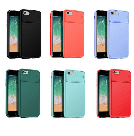 iPhone 6/6S - Stötdämpande Skal med Kamera Skydd