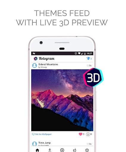 Live Wallpapers Parallax Hologram 4K HD 1.6.7 screenshots 2
