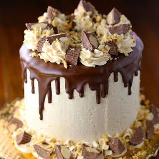 Peanut Butter Swiss Meringue Chocolate Cake.