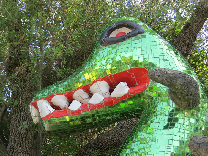 Niki de Saint Phalle, La Forza (particolare), Giardino dei Tarocchi, Capalbio