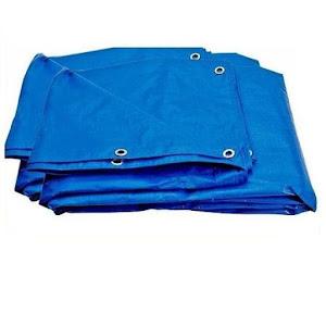 Prelata impermeabila cu inele, 3x4 metri, 80 g/mp, albastru