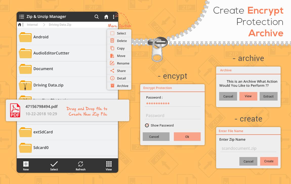 Zip File Extractor - File Compressor, Unzip, Unrar screenshots