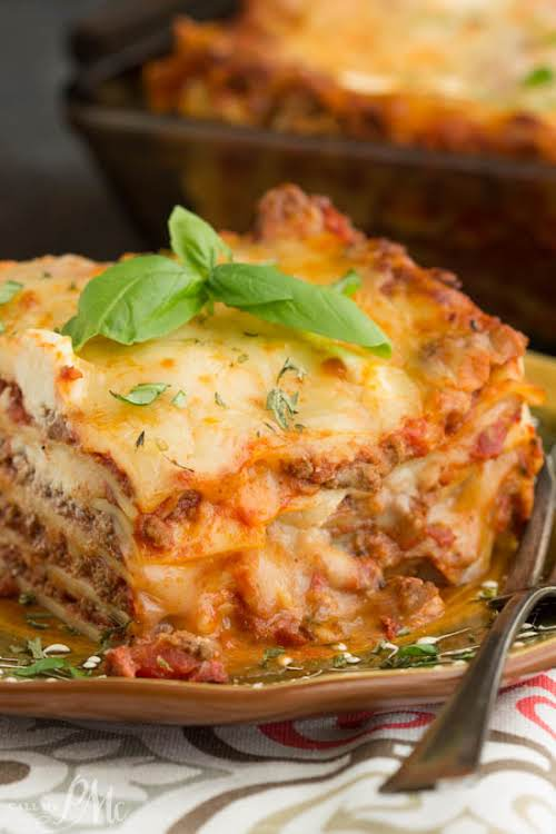 "Classic Turkey Lasagna""Classic Turkey Lasagna Recipe, a simple homemade lasagna recipe that's..."