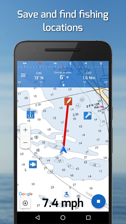 Fishing points gps tides fishing forecast android for Tides for fishing app