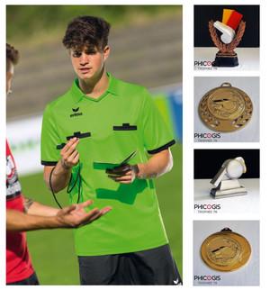 équipement sportif pour arbitre, football erima, trophée arbitre