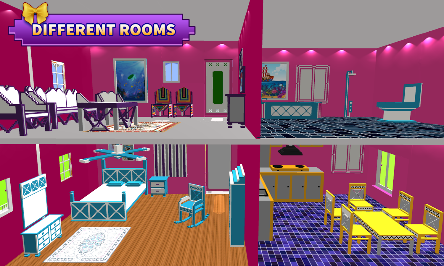 House design com - Doll House Design Decoration Girls House Games Screenshot