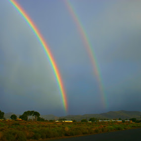 Karoo Rainbow. by Hennie Cilliers - Landscapes Waterscapes