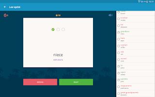 Screenshot of English with Lingualeo