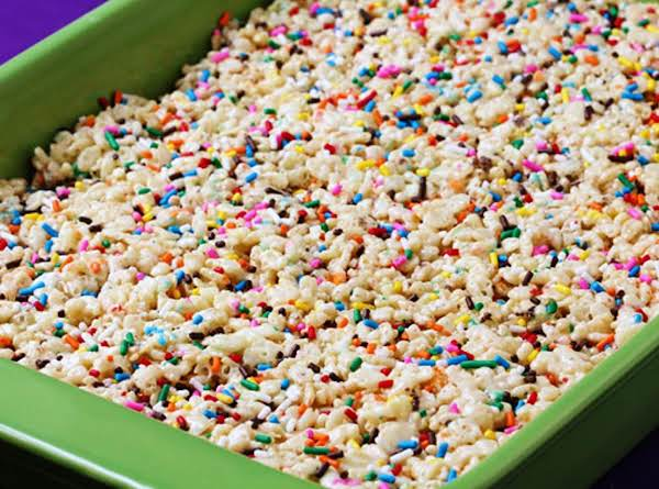 Cake Batter Rice Krispies Recipe