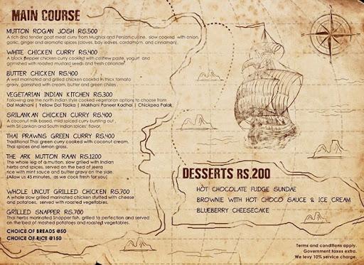 The ARK menu 2