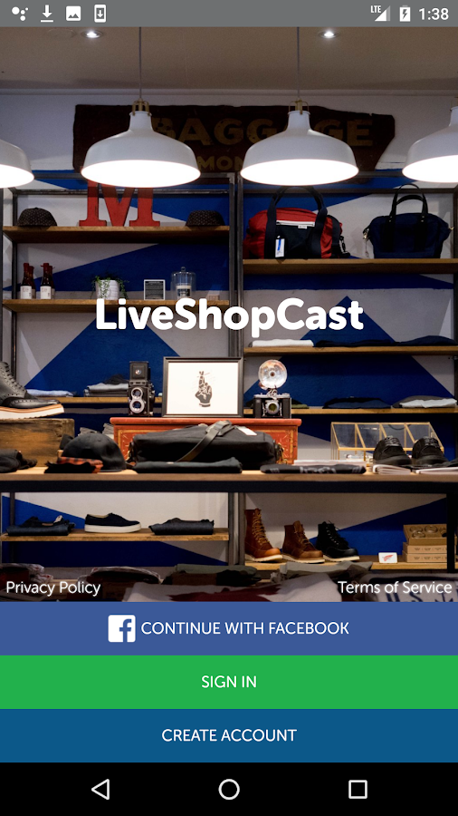 LiveShopCast- screenshot