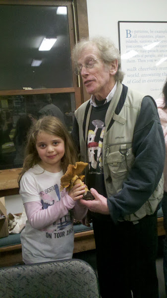 Photo: Teach your children well.... Eva with Gary Lincoff