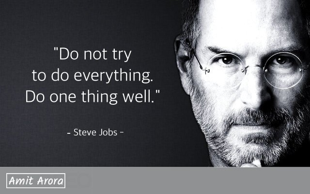 do one thing well steve jobs quote