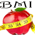 BMI calculator health meter icon