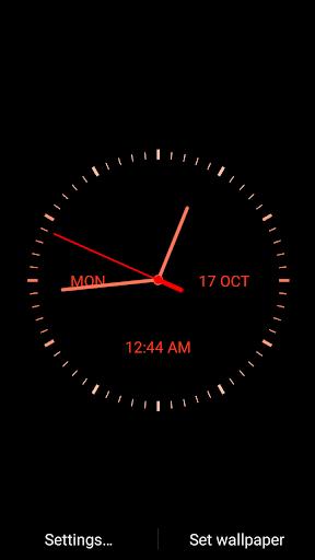 digital clock from mobile9