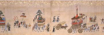 絵巻物・奈良絵本、祇園祭礼絵巻、江戸中期写 彩色 一巻