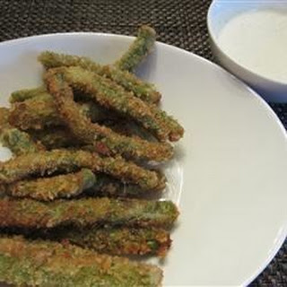 Crispy Green Beans with Horseradish-Wasabi Dip.