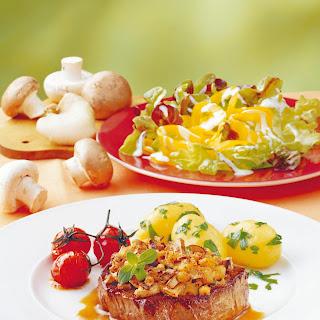 Filetsteak mit Pilzhaube