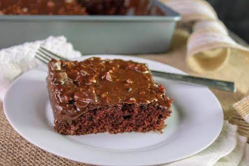 """Sheet Cake That Tastes Like Brownies """"This old-fashioned cake sends you straight..."""