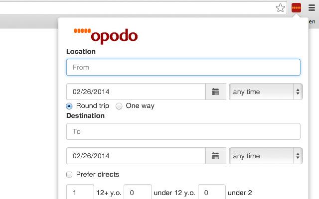 Opodo Flight Search