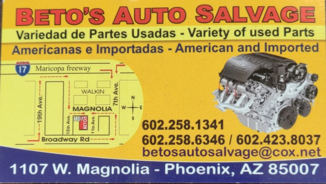 Cox Auto Salvage >> Beto S Auto Salvage Used American And Foreign Car Parts