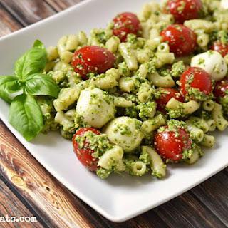 Pesto Caprese Macaroni Salad