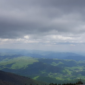 Highest point- Mt Mitchell by Jackie House - Landscapes Mountains & Hills