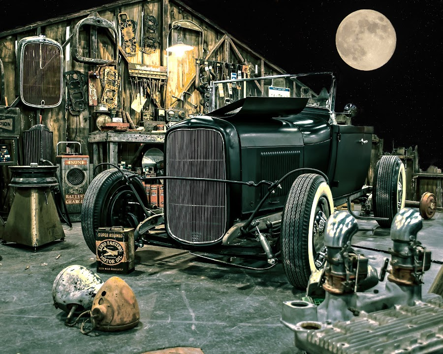 Junior's Spot, Behind the Barn by Boyd Smith - Transportation Automobiles