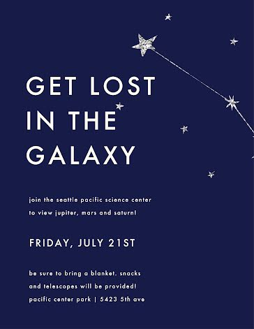 Get Lost in the Galaxy - Flyer Template