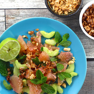 Thai Pomelo Salad with Mint and Fried Shallot