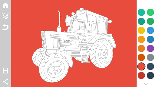 Tractors Coloring Pages Game 1.6 screenshots 1