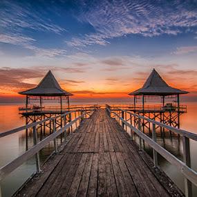 Port of Kenji by Andy R Effendi - Landscapes Sunsets & Sunrises ( kenjeran, indonesia, kenji, beach, surabaya )
