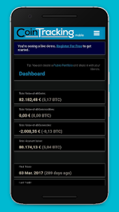 CoinTracking - track cryptocurrencies with widgets - náhled