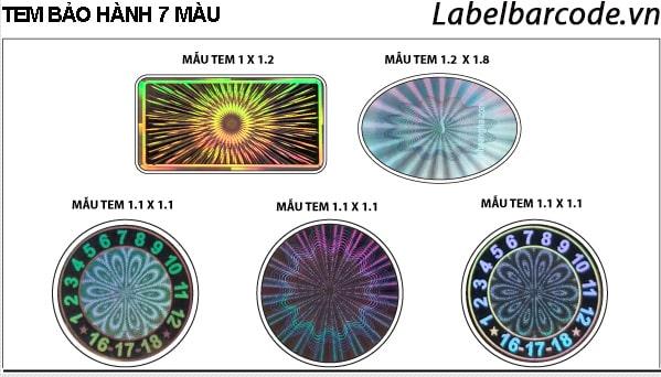 Mẫu tem bảo hành 7 màu tại An Thành chất lượng chính hãng giá rẻ