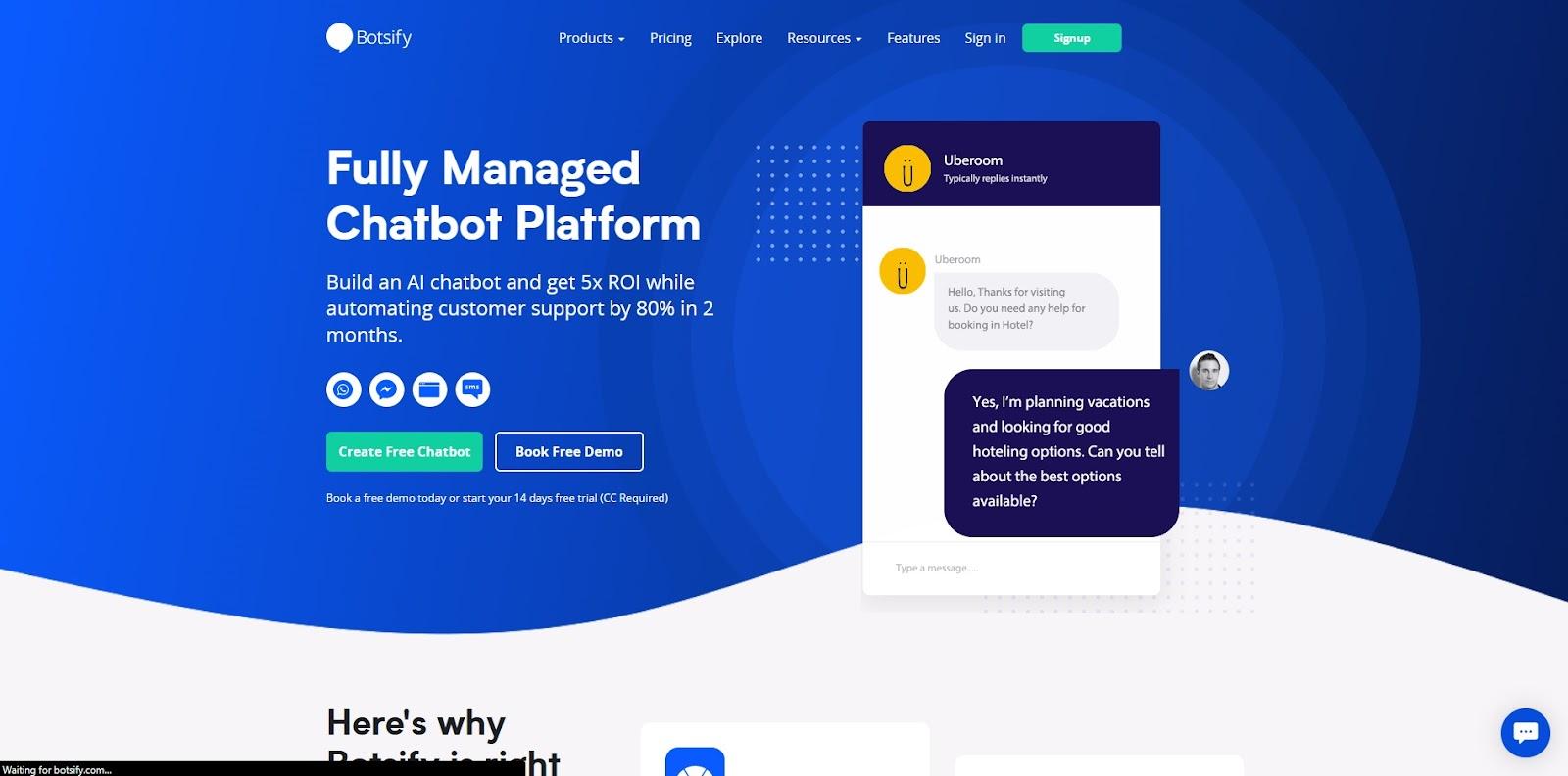 botsify homepage