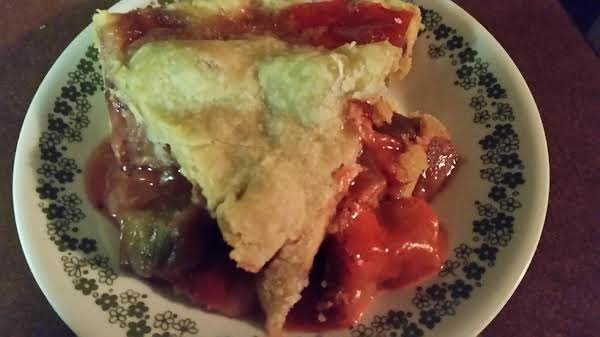 Grandma's Glazed Strawberry- Rhubarb Pie Recipe