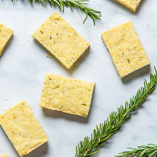 Olive Oil Rosemary Shortbread.