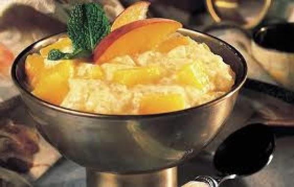 peach infused tapioca pudding