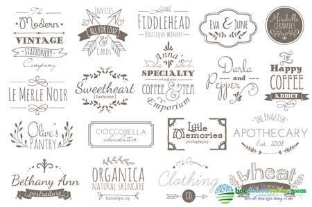mẫu logo theo phong cách viết tay