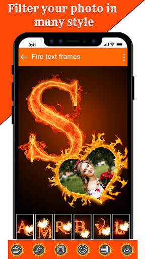 Fire Text Photo Frame u2013 New Fire Photo Editor 2020 1.40 Screenshots 21